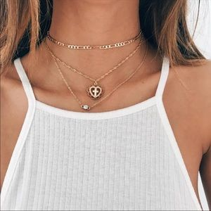 Jewelry - •Kelly• Layered Heart Cross Necklace